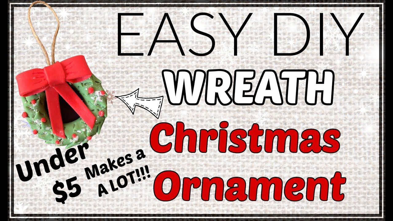 Easy Diy Wreath Christmas Ornaments On A Budget Under 5 Makes A Lot Of Ornaments Youtube In 2020 Christmas Wreaths Diy Diy Wreath Christmas Ornaments