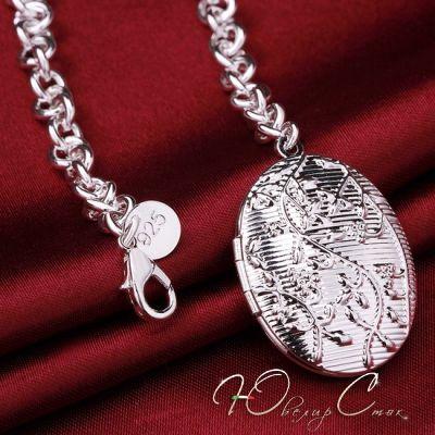 """Купить Браслет с медальоном для фото """"France Amelia"""" браслеты покрытые серебром…"""