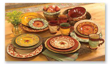 Tuscan Dinnerware | 32 PIECE SET OF CASA CRISTINA DINNERWARE | Home ...