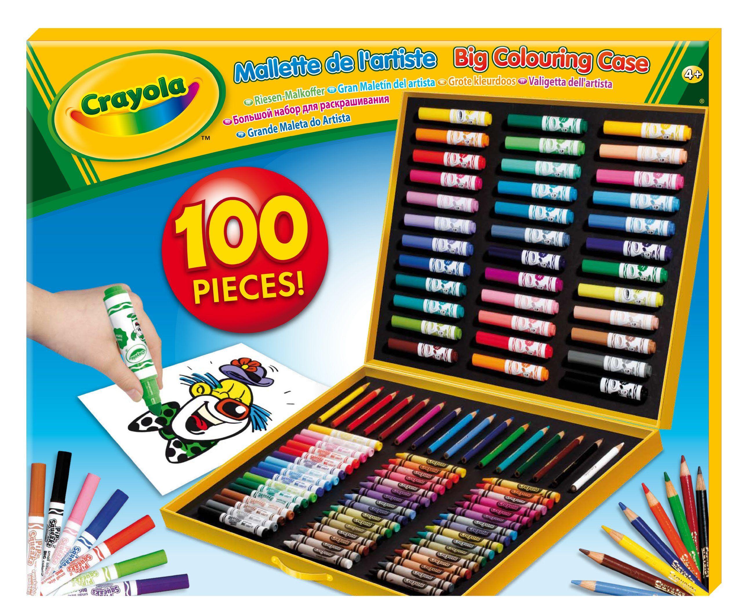 Crayola - Maletín para colorear con 100 accesorios (+4 años): Amazon ...