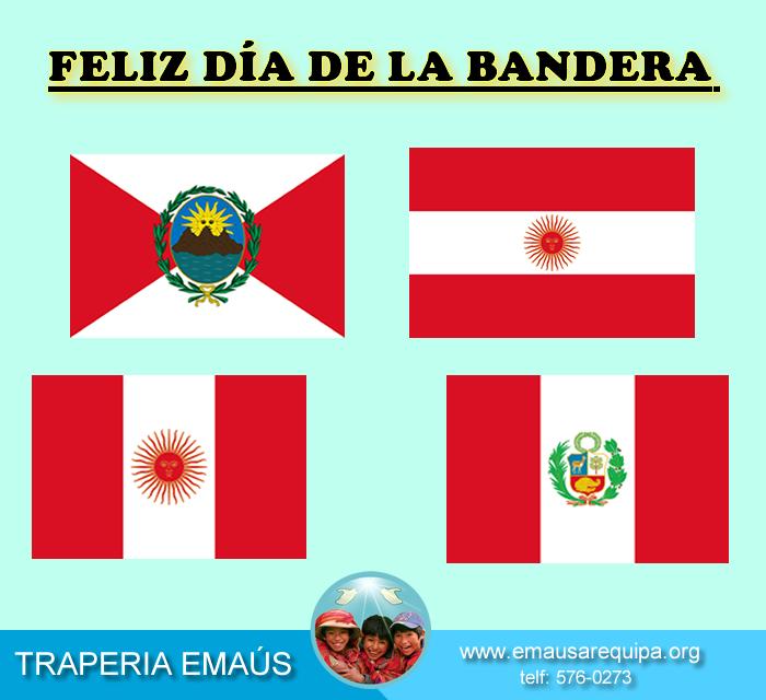 7 De Junio : Día de la Bandera !! 4ta Bandera Creada Gracias al Sueño que  tuvo el General Don José de San Martin en el año 1825...... Contáctenos: Telf: (01) 576 0273 / RPC: 943518300 / #951401882 Conoce un poco mas de Nosotros En : www.emausarequipa.org