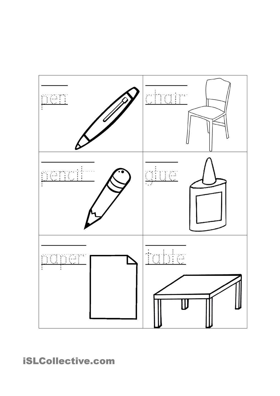 Classroom Objects Fely Kindergarten Worksheets Worksheets