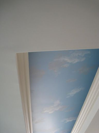 how to paint clouds on a ceiling studio inspiration pinterest ceiling ceiling murals and. Black Bedroom Furniture Sets. Home Design Ideas