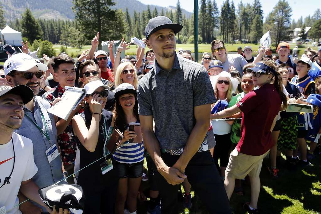 Steph Curry draws a crowd at Tahoe golf tourney Steph