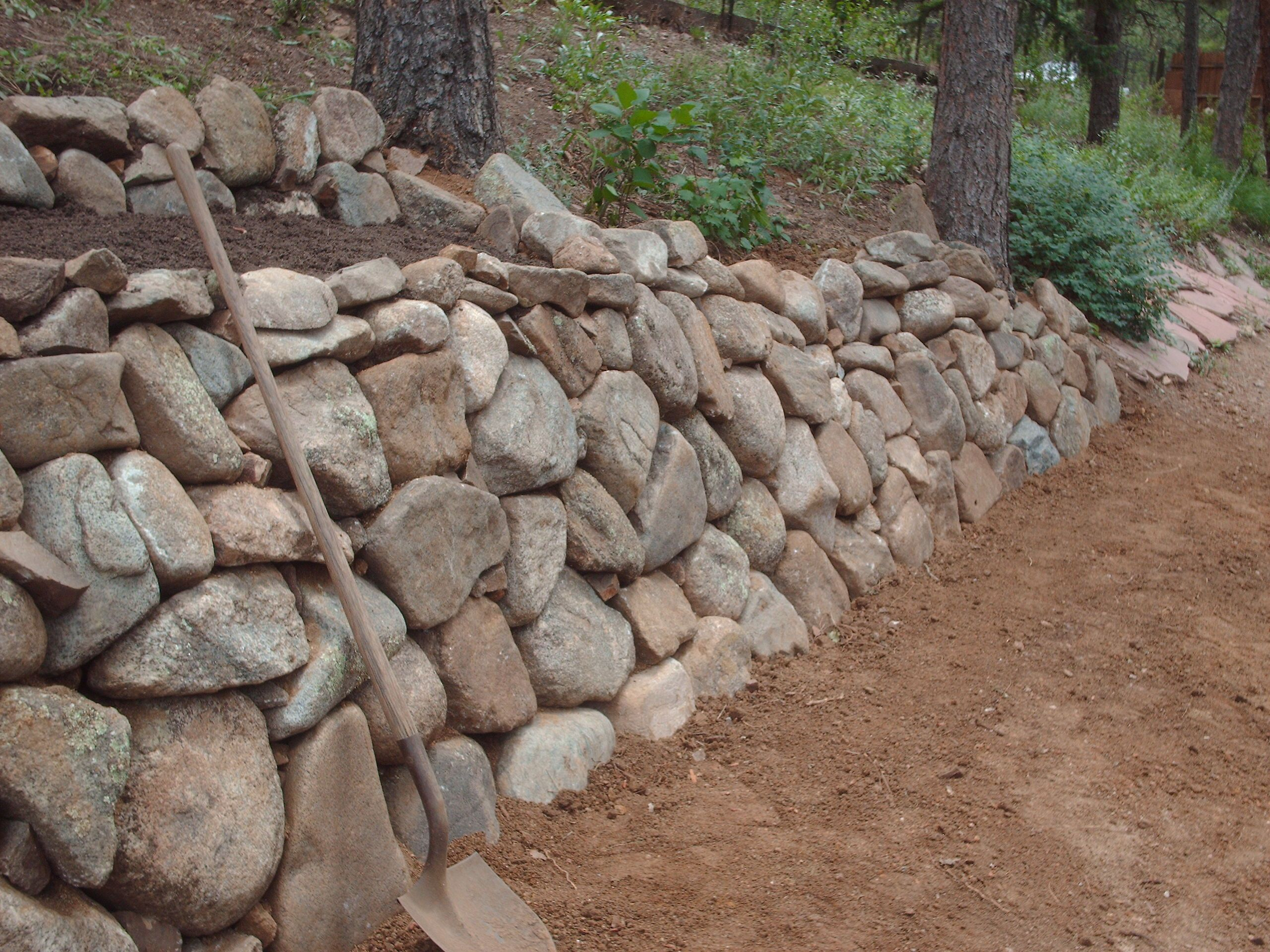 Dry Stacked Stone Wall Google Search Outdoor