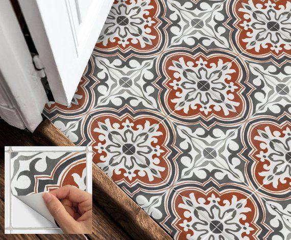 Floor Tile Stickers Vinyl Decal WATERPROOF REMOVABLE For