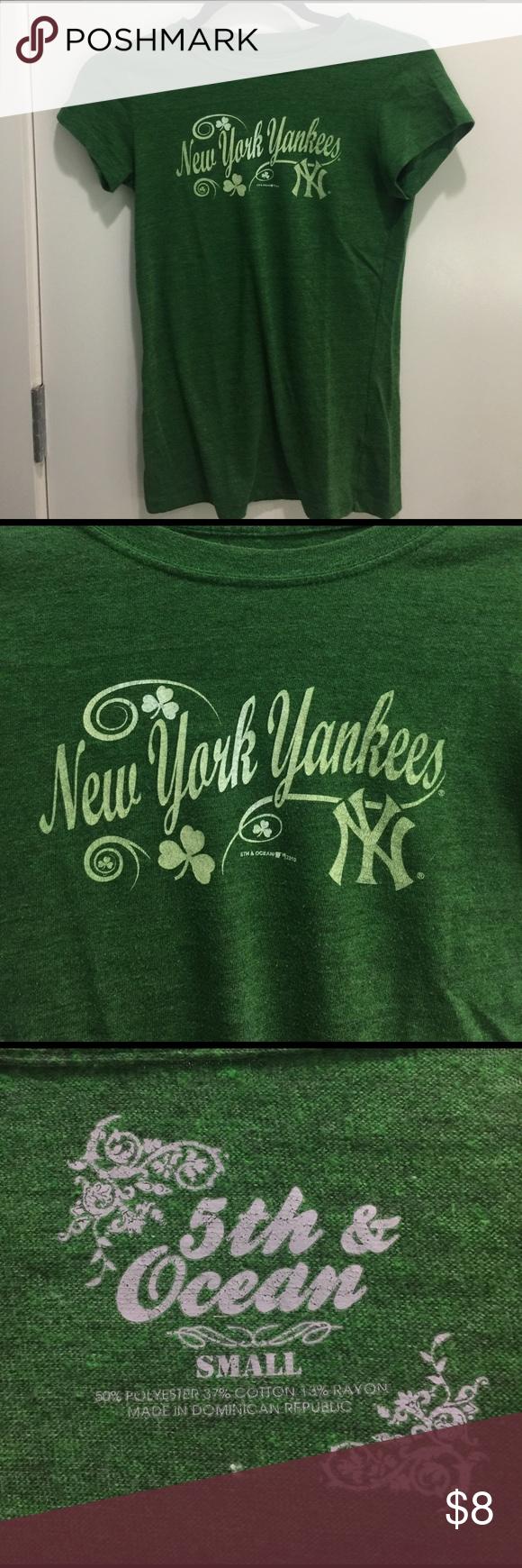 NY Yankees St. Patrick s Day T-shirt New York Yankees St. Patrick s Day  edition T-shirt by 5th   Ocean. World Series year! 5th   Ocean Tops Tees -  Short ... 59bb702945f
