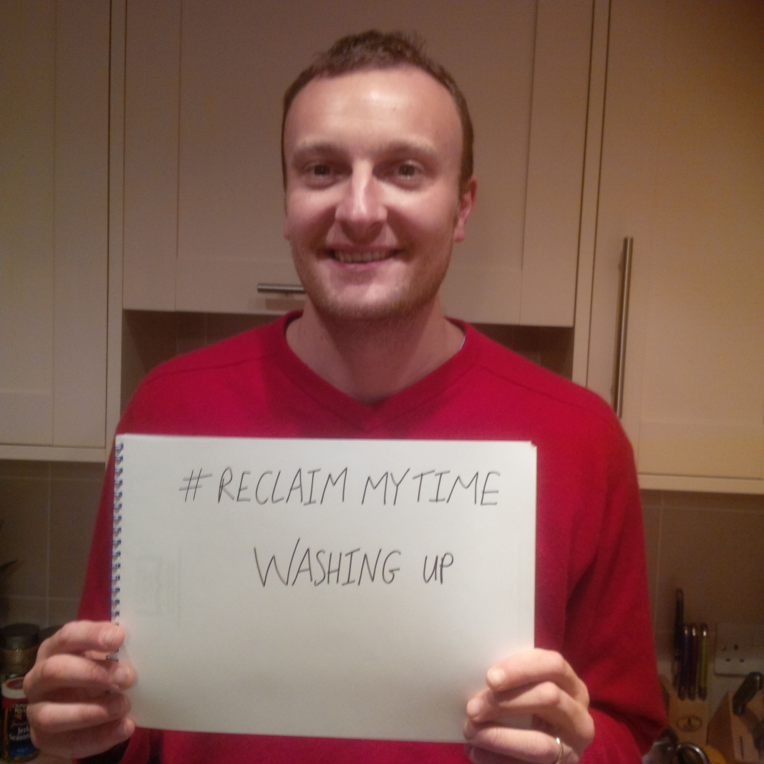 Zoe Andrews submitted this picture of reclaiming time to finish the washing up! #ReclaimMyTime