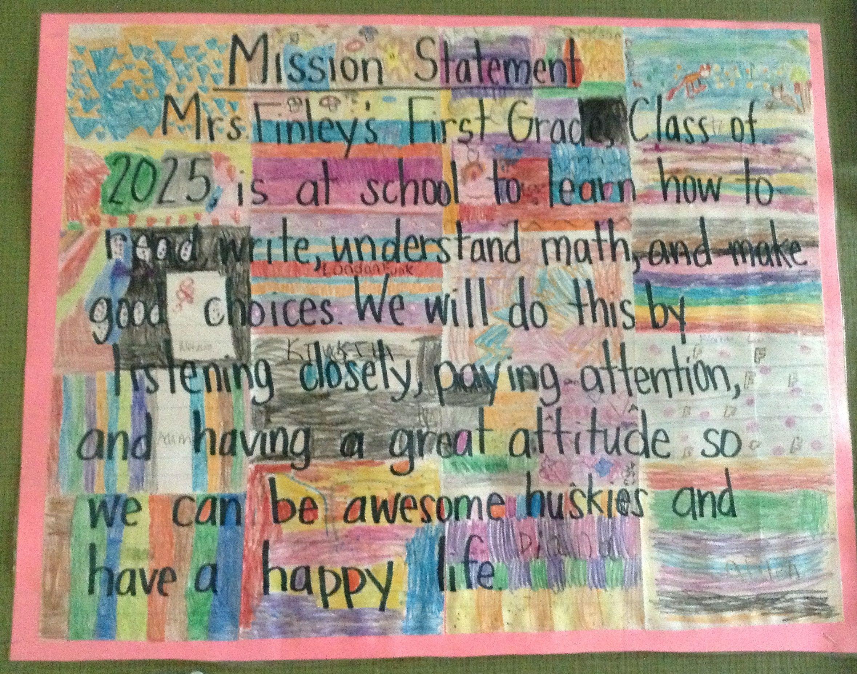 Kindergarten Mission Statement  Classroom Mission Statements