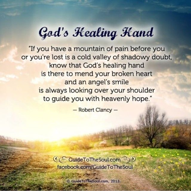 Quotes About Healing Impressive God's Healing Hand  Inspirational Quote Wwwguidetothesoul