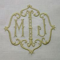 Love this monogram design!  Would be perfect for the pillow shams for my client's master bedroom!