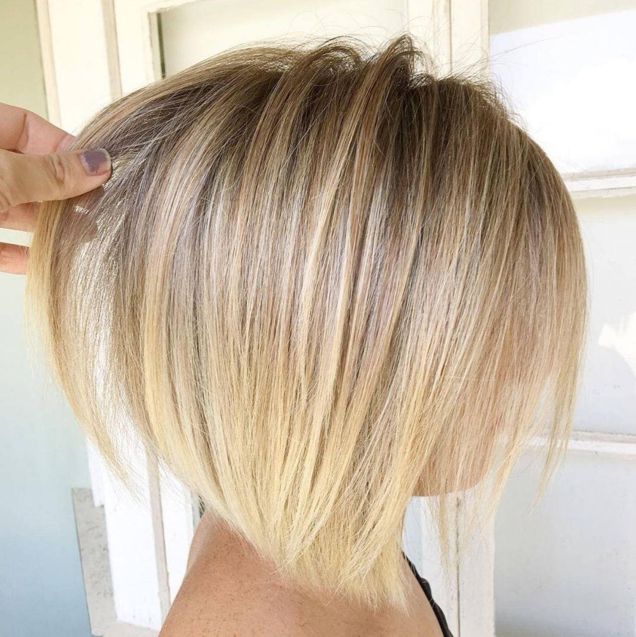 Voluminous Rounded Bronde Bob Thin Hair Haircuts Hair Styles Hairstyles For Thin Hair