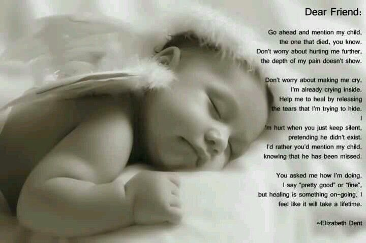 To all of us who have gone thru a miscarriage or the loss of a child .