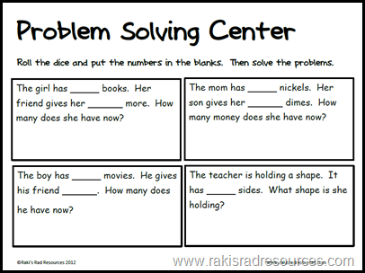 Problem solving games ks2