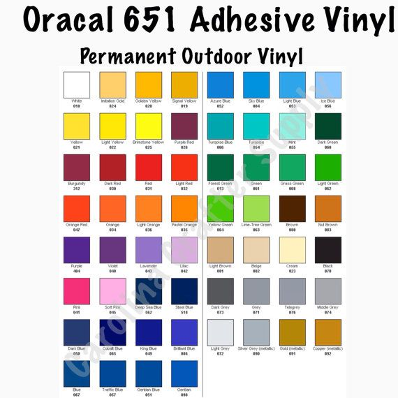 Oracal 651 12x24 Sheets Adhesive Vinyl Pick Your Color Decal Vinyl