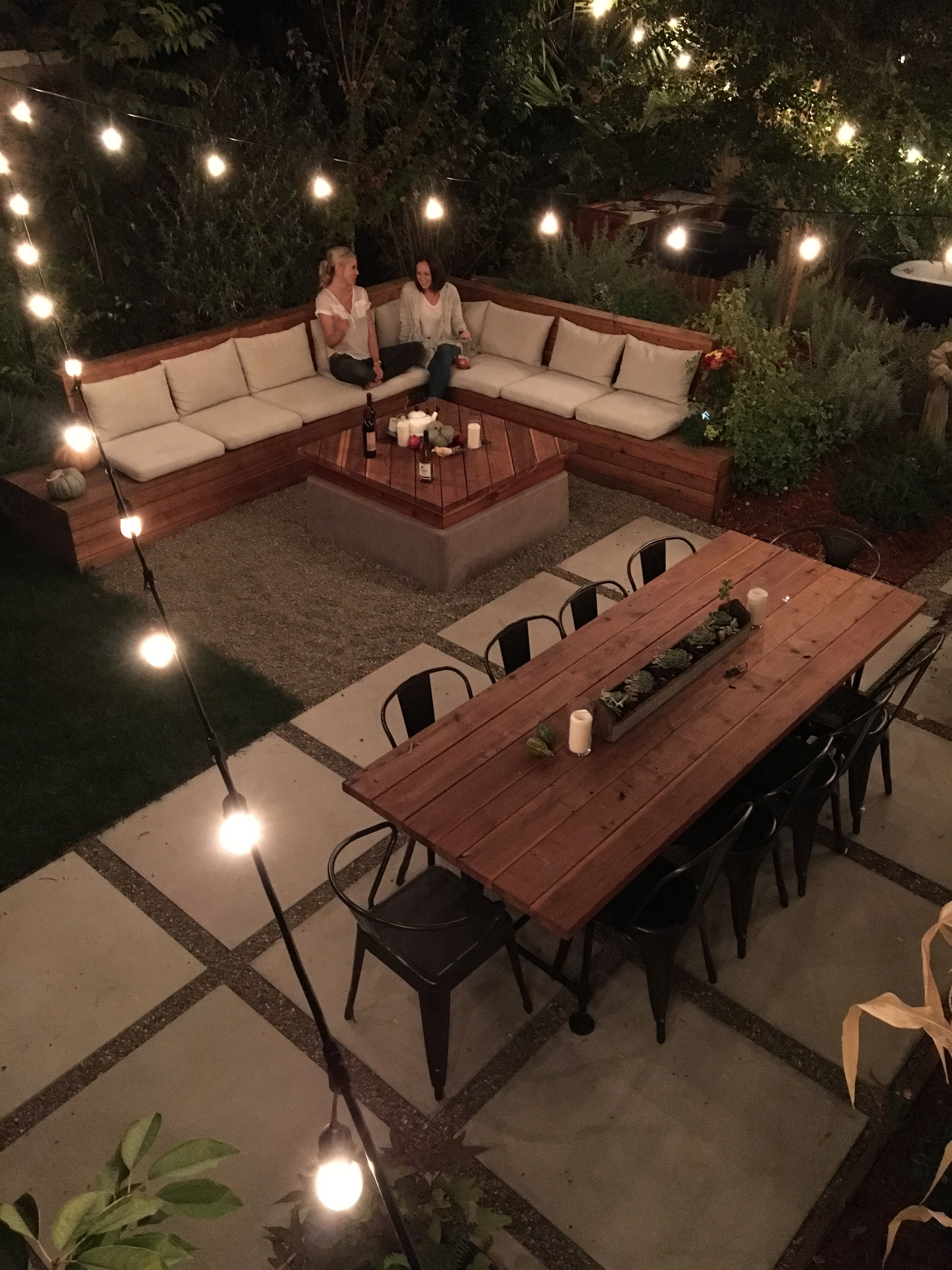 Our outdoor seating area and patio were two of our favorite