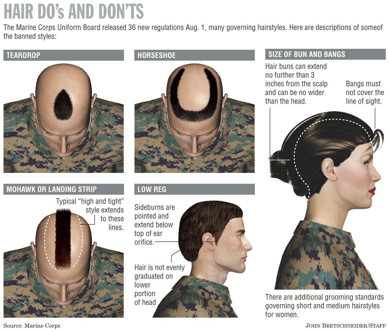 Hair Do S And Don Ts Military Hair Hair Styles Short Hair Bun