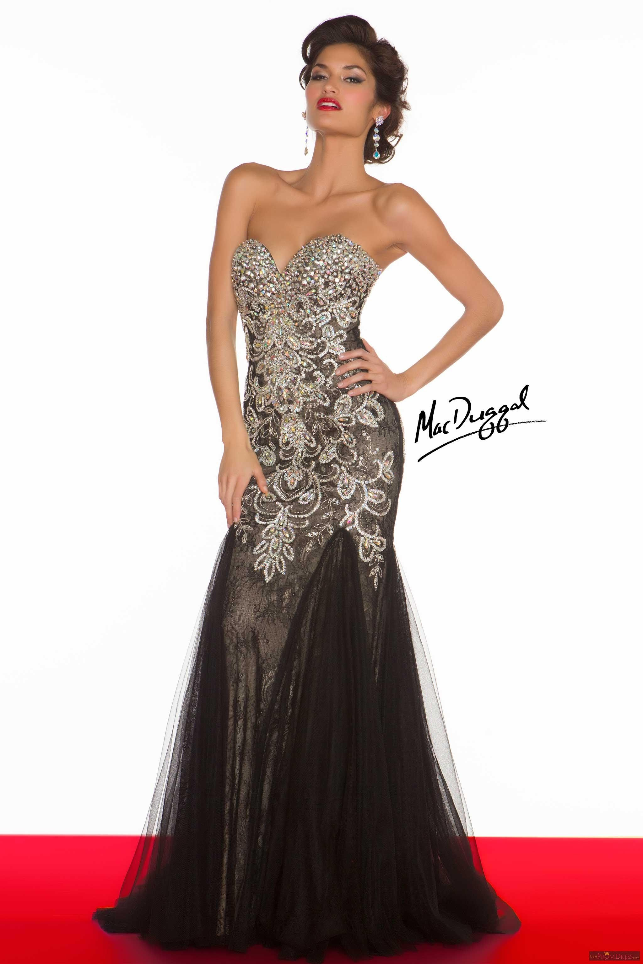 Mac Duggal Style 81719R - Glamerous trumpet style evening gown with ...