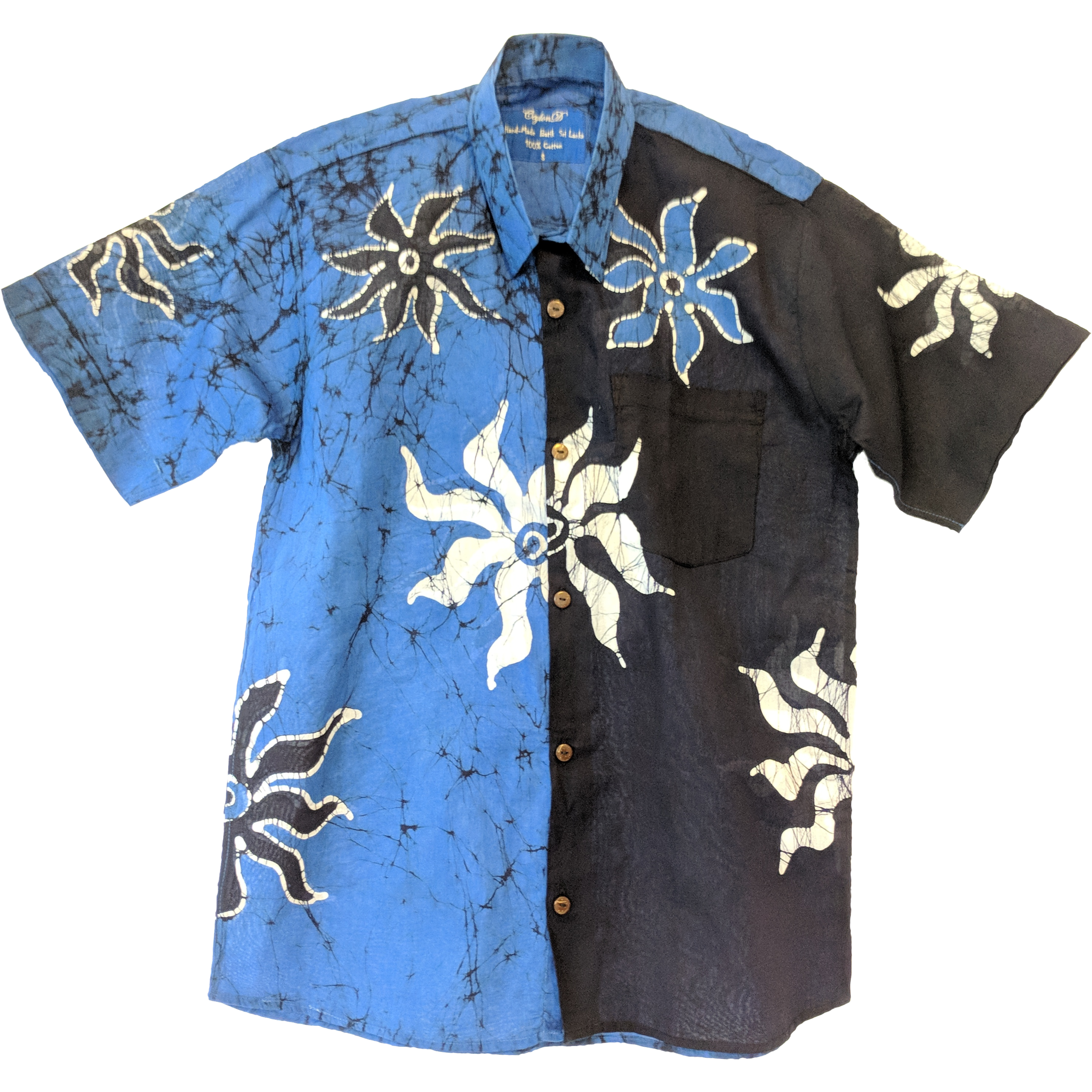 SunRay Blue Men Batik Shirt In 2019