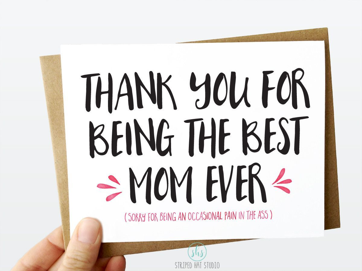Thank you for being the best mom ever card products thank you for being the best mom ever 5x7 greeting card kristyandbryce Choice Image
