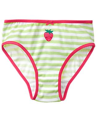 3b03aecdf Girls Soft Green Stripe Strawberry Underwear by Gymboree | Girls ...
