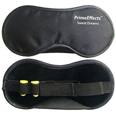 Sleep Mask with Ear Plugs - For Sleeping Anywhere, Travel, Long Flights or Short Naps, Blocks Light Fully, Super Lightweight, Soft & Comfortable, Wide Strap with Velcro and Earplugs Holder, Extreme Quality & Comfort. Money Back Guarantee.