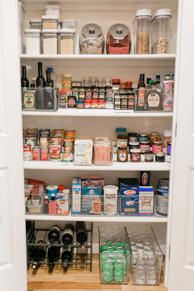 Pantry Organization Tips With The Container Store The Kachet Life Diy Pantry Organization Kitchen Organization Pantry Small Pantry Organization
