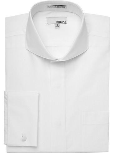 Dress Shirts - Modena White French Cuff Dress Shirt - Men's Wearhouse $35