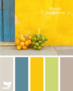 These colors make me happy and make me want to go on a cruise to the Bahamas. #colorpalette