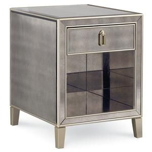 Our Mirrored Cube End Table Is Sure To Please The Eye Complete With - Mirrored cube end table