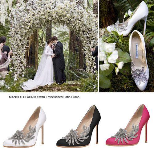 "fe9cd29c1d Manolo Blahnik Twilight Wedding Shoes | ... twilight"", Bella put on ..."