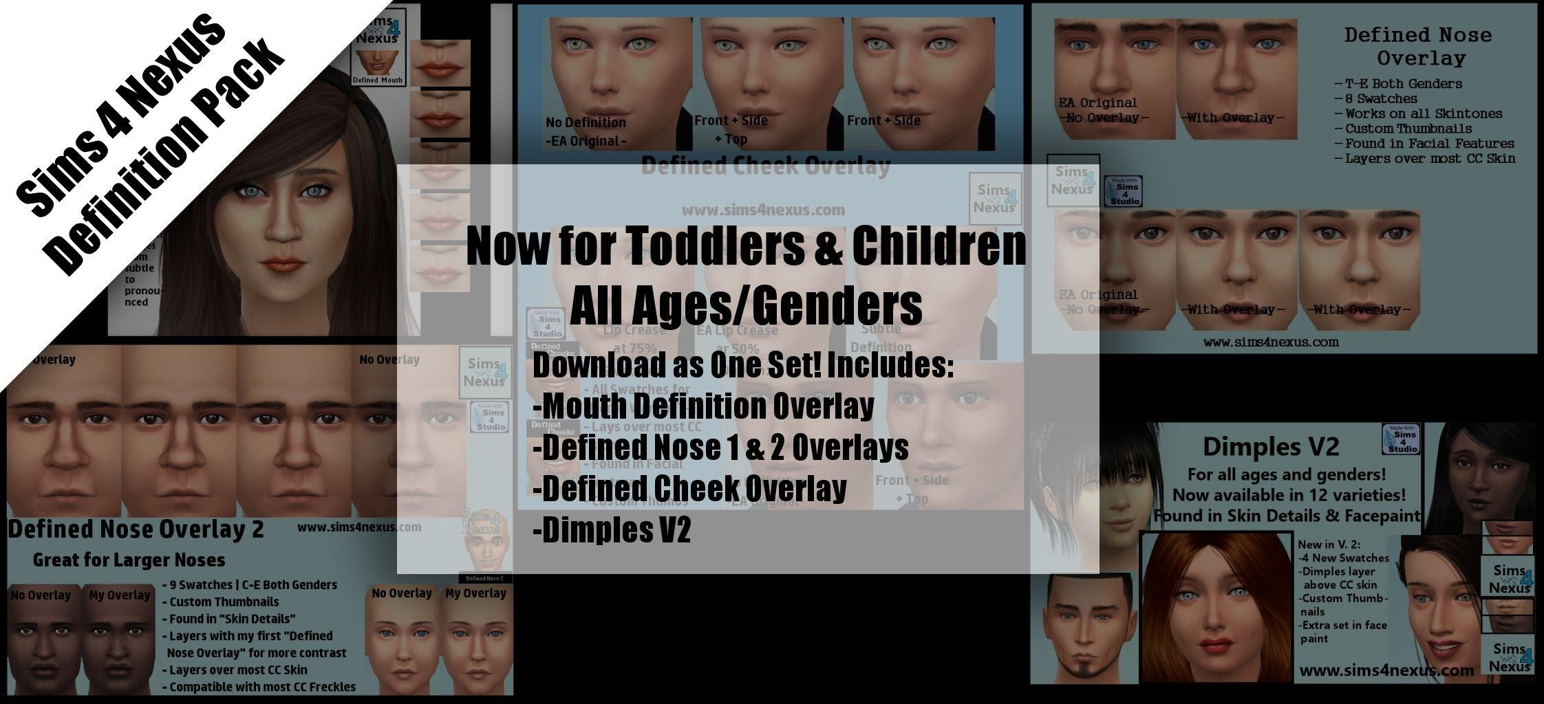 Facial Definition Pack  Original Content  | Sims 4 Nexus