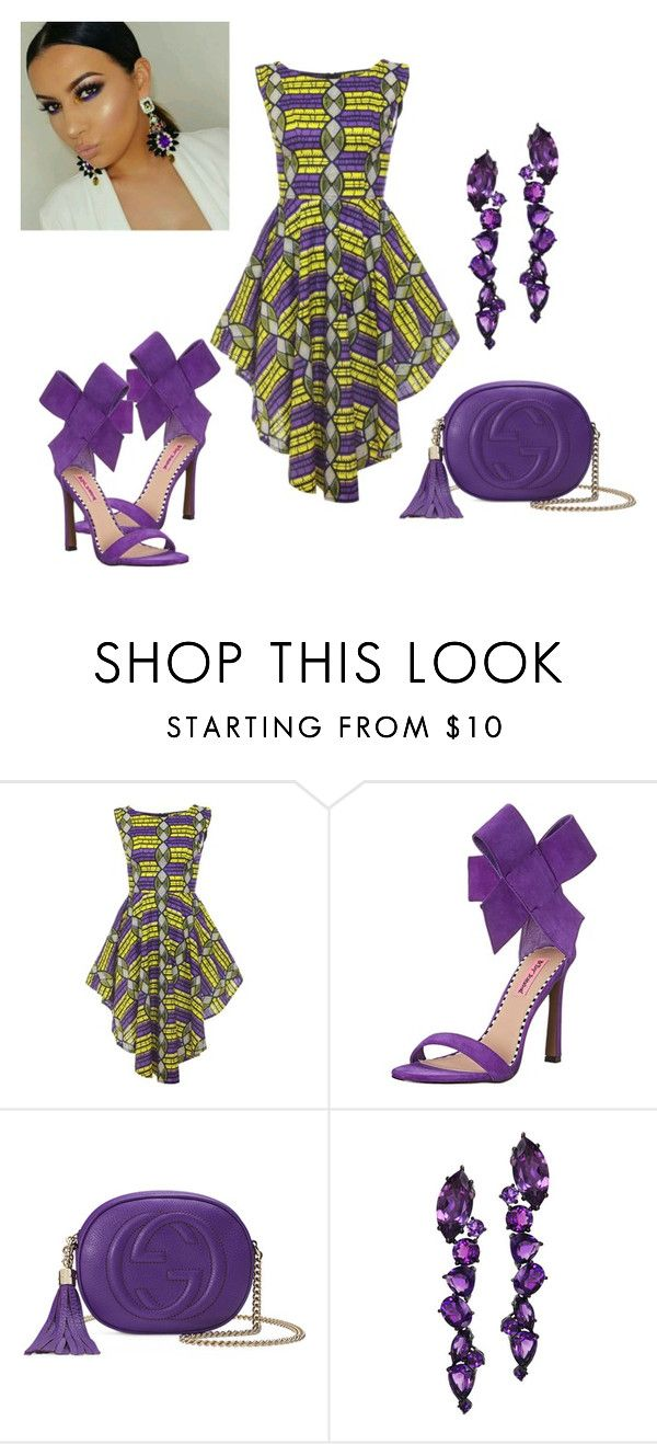 """""""Untitled #1870"""" by stephstyle76 ❤ liked on Polyvore featuring Betsey Johnson, Gucci and Plukka"""
