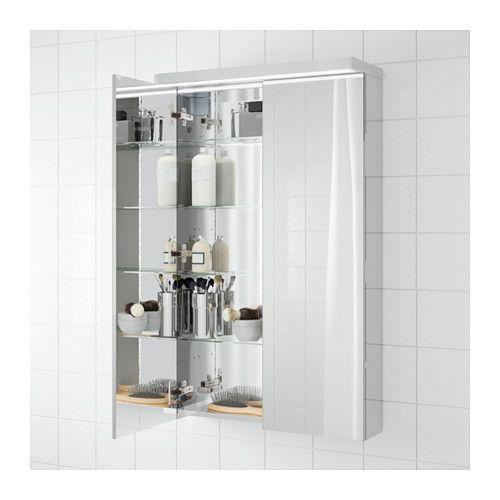 Godmorgon Mirror Cabinet With 2 Doors 23 5 8x5 1 2x37 3 4 Ikea Mirror Cabinets Ikea Godmorgon Small Bathroom Decor