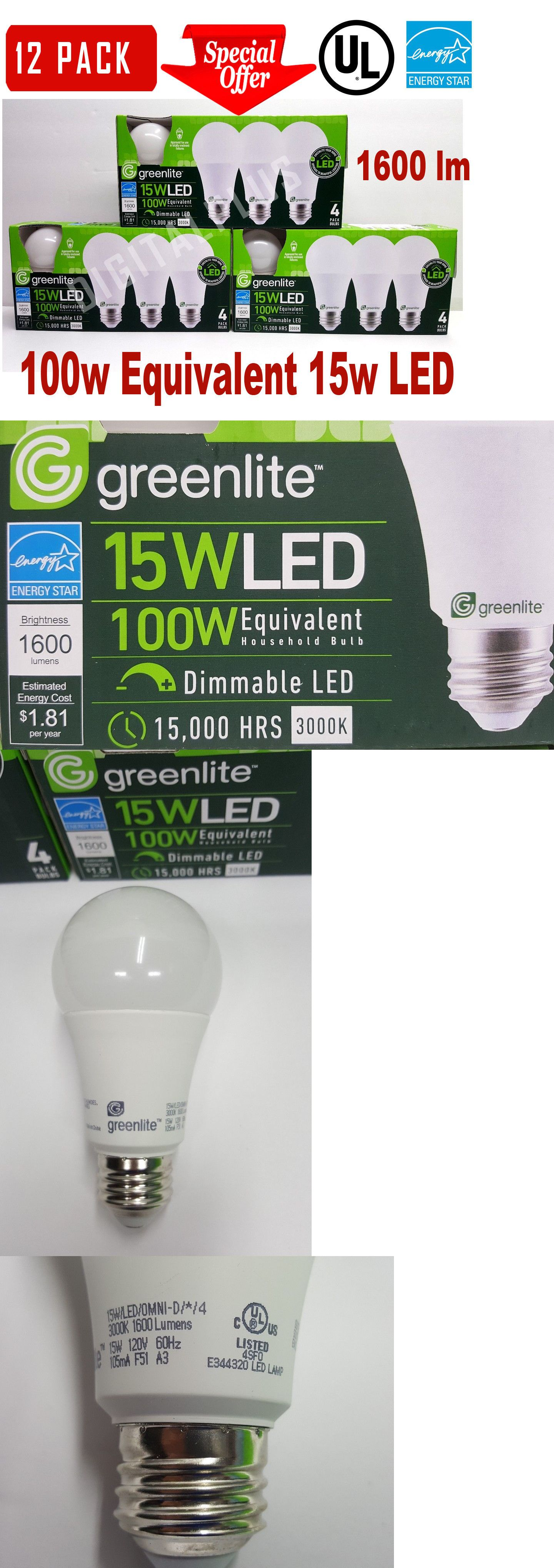 12 Led Light Bulbs Maxlite 15w 1600 Lumens Soft White 2700k A19 E26 Dimmable Ebay Led Light Bulbs Light Bulbs Bulb