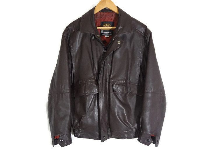 e738be287 Vintage Mens Dark Brown Leather Jacket - Medium - London Fog - Team ...