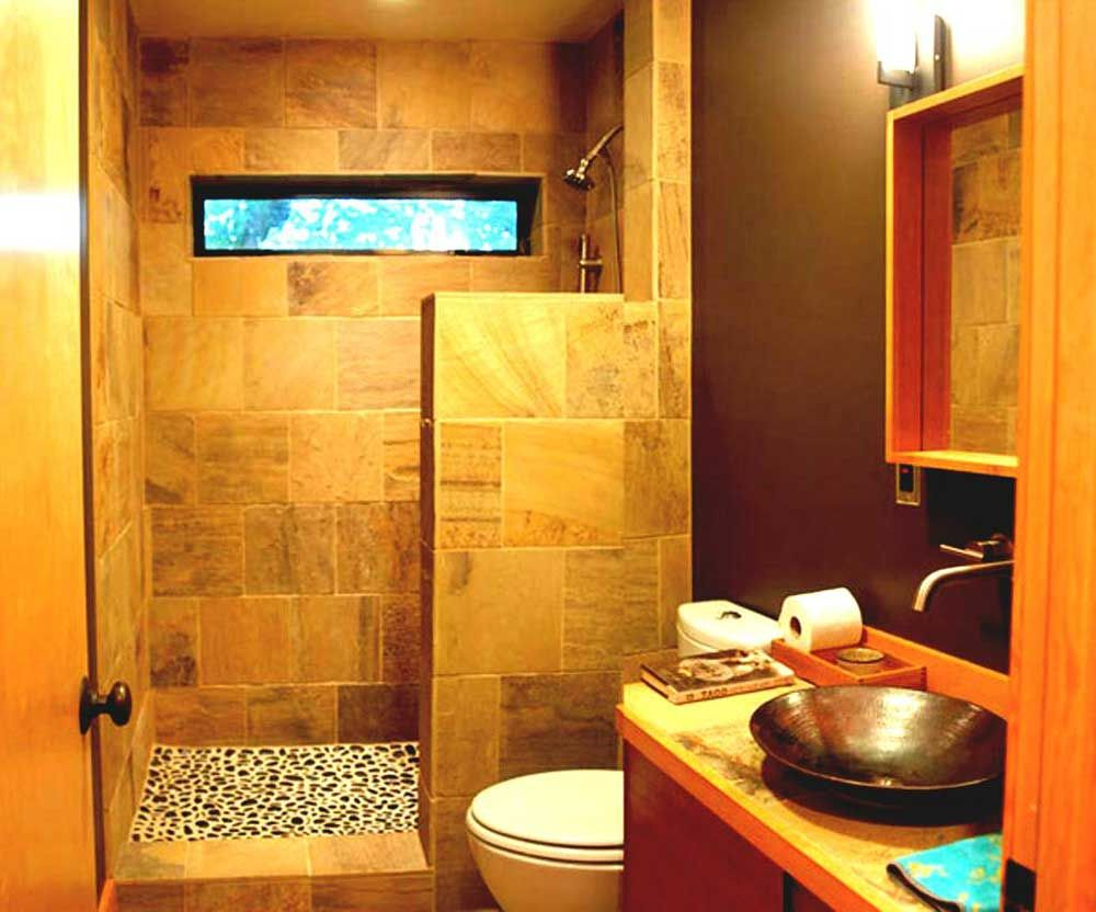 Orange Bathroom Paint Ideas with tuscany color of ceramic and ...