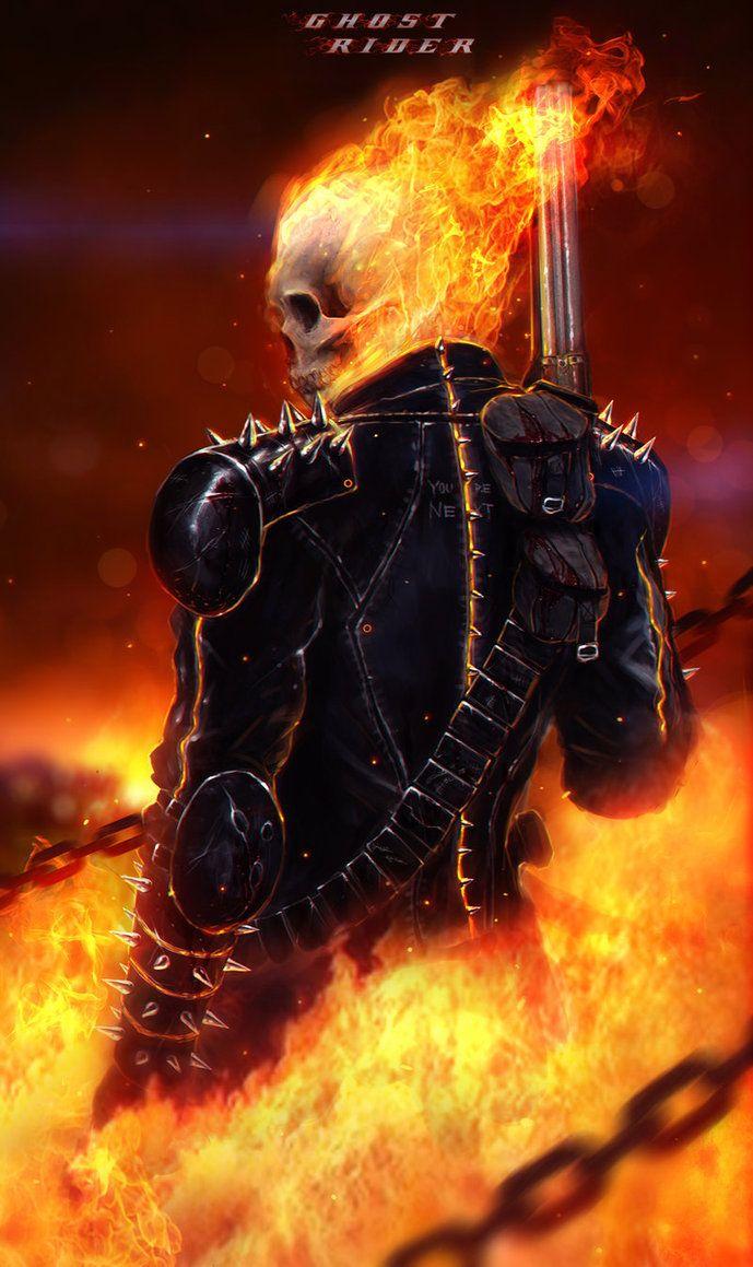 Ghost Rider By Rhinoting On Deviantart Ghost Rider Wallpaper Ghost Rider Marvel Ghost Rider