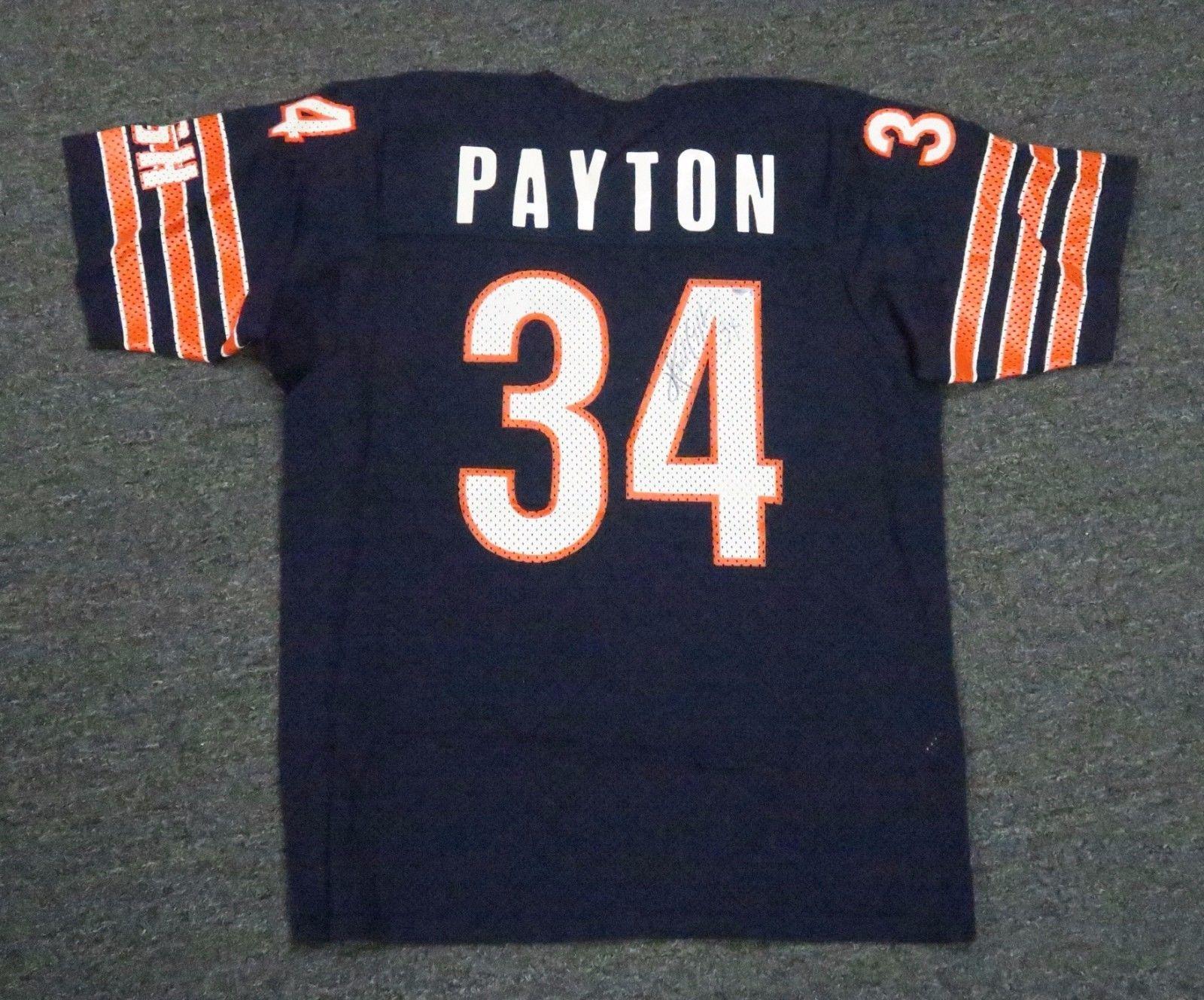 SportsMemorbilia Walter Payton #34 Signed Chicago Bears Jersey AUTO ...