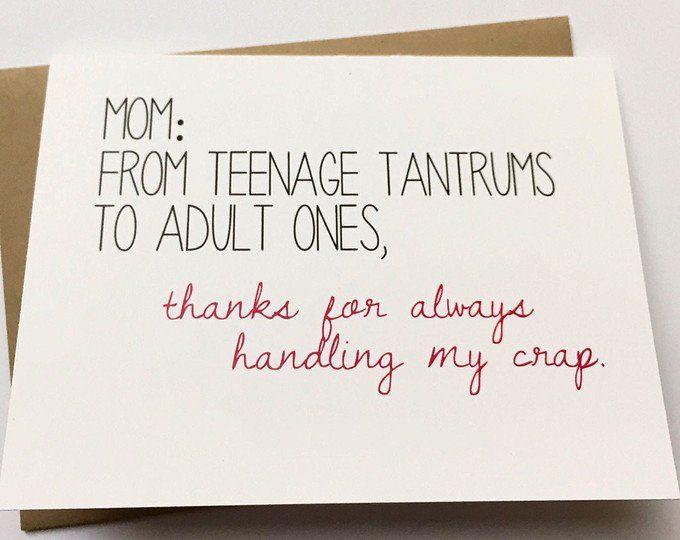 Crazy Mom Card Mothers Day Card Mom Birthday Card Funny Mom