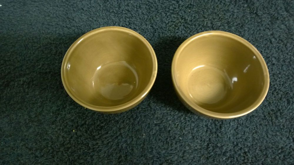 SET OF 2  POTTERY BARN STUDIO BARBARA EIGEN STONEWARE BROWN CEREAL  BOWLS #PotteryBarn