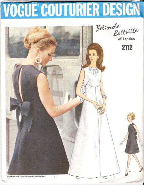 Vintage Sewing Pattern Rare Vogue Couturier Design by KikivonTiki ...