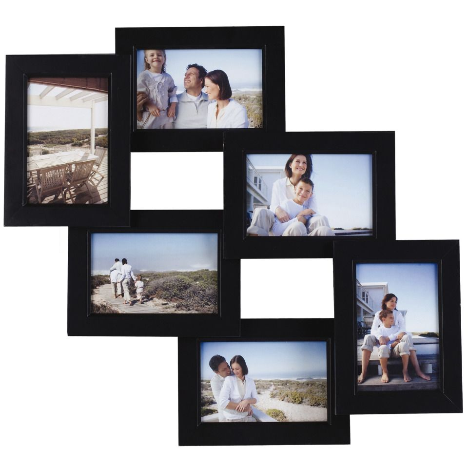 Melannco Set Of 6 Opening Collage Picture Frames In Black Beyond