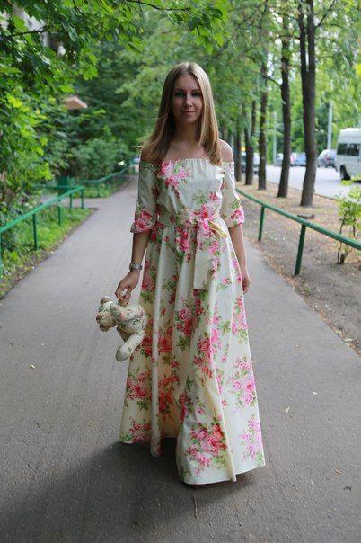 Платья из поплина в пол