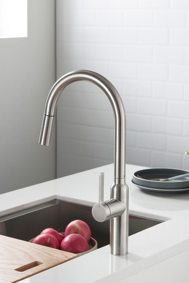 Ziel K 1360 Stainless Steel Kitchen Faucet With Long Pull Out