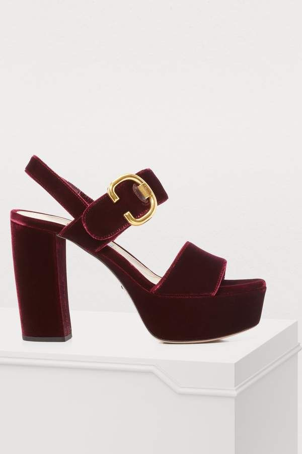 f7f07b2ade6e Prada Velvet sandals - Burgundy heels. Prada Velvet sandals - Burgundy  heels Burgundy Fashion
