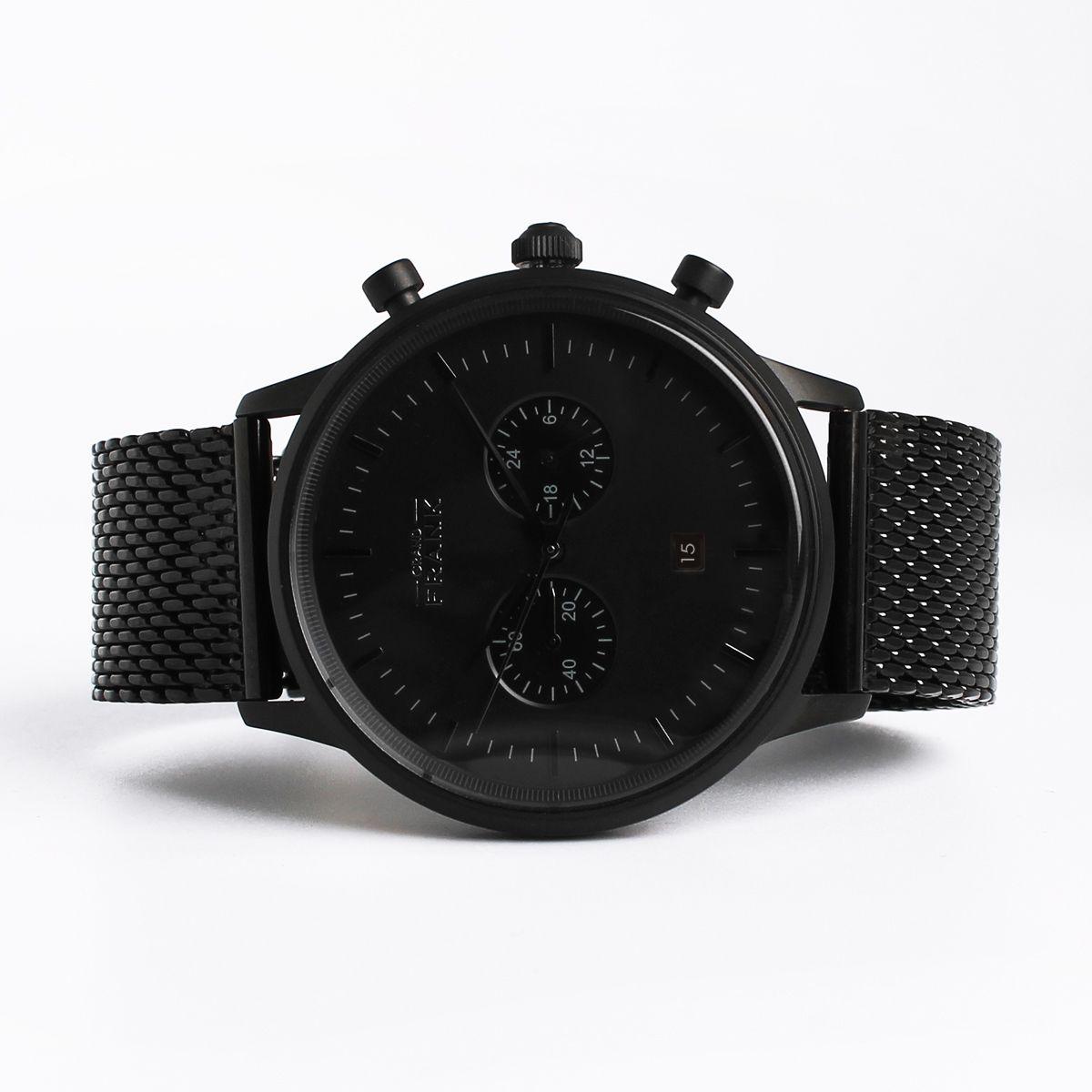 the grand frank kingston matte black mesh watch get it at the grand frank kingston matte black mesh watch get it at grandfrank