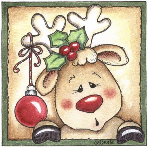 Renos de navidad para imprimir estos dibujos coloreados - Motivos navidenos dibujos ...