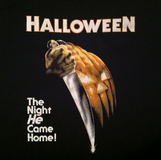 vintage late 80s halloween horror movie t shirt - Halloween Scary Movies