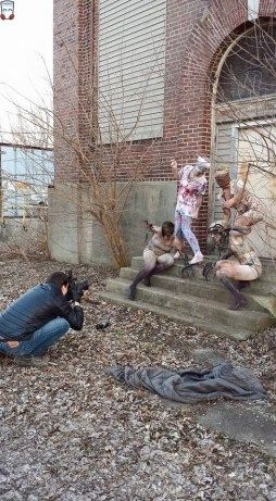 From the video game horror shoot, I am the nurse on the far left.